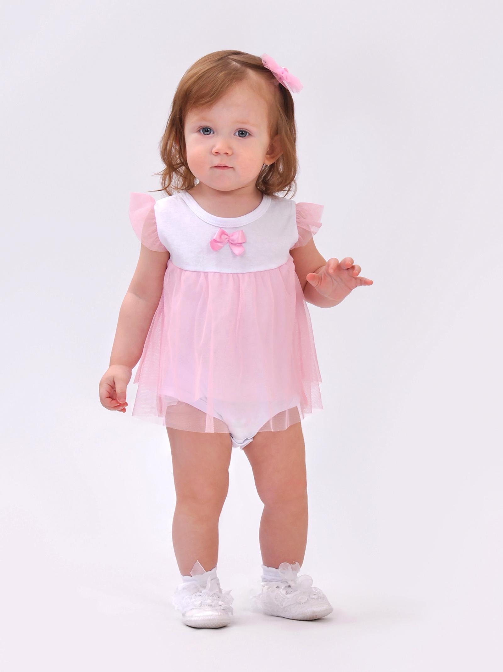 Боди Viktory Kids боди для девочки котмаркот зимние зайцы цвет розовый 9682 размер 62
