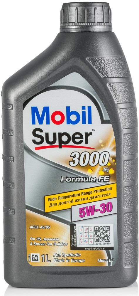 Масло моторное Mobil Super 3000 X1 Formula FE, синтетическое, класс вязкости 5W-30, 1 л