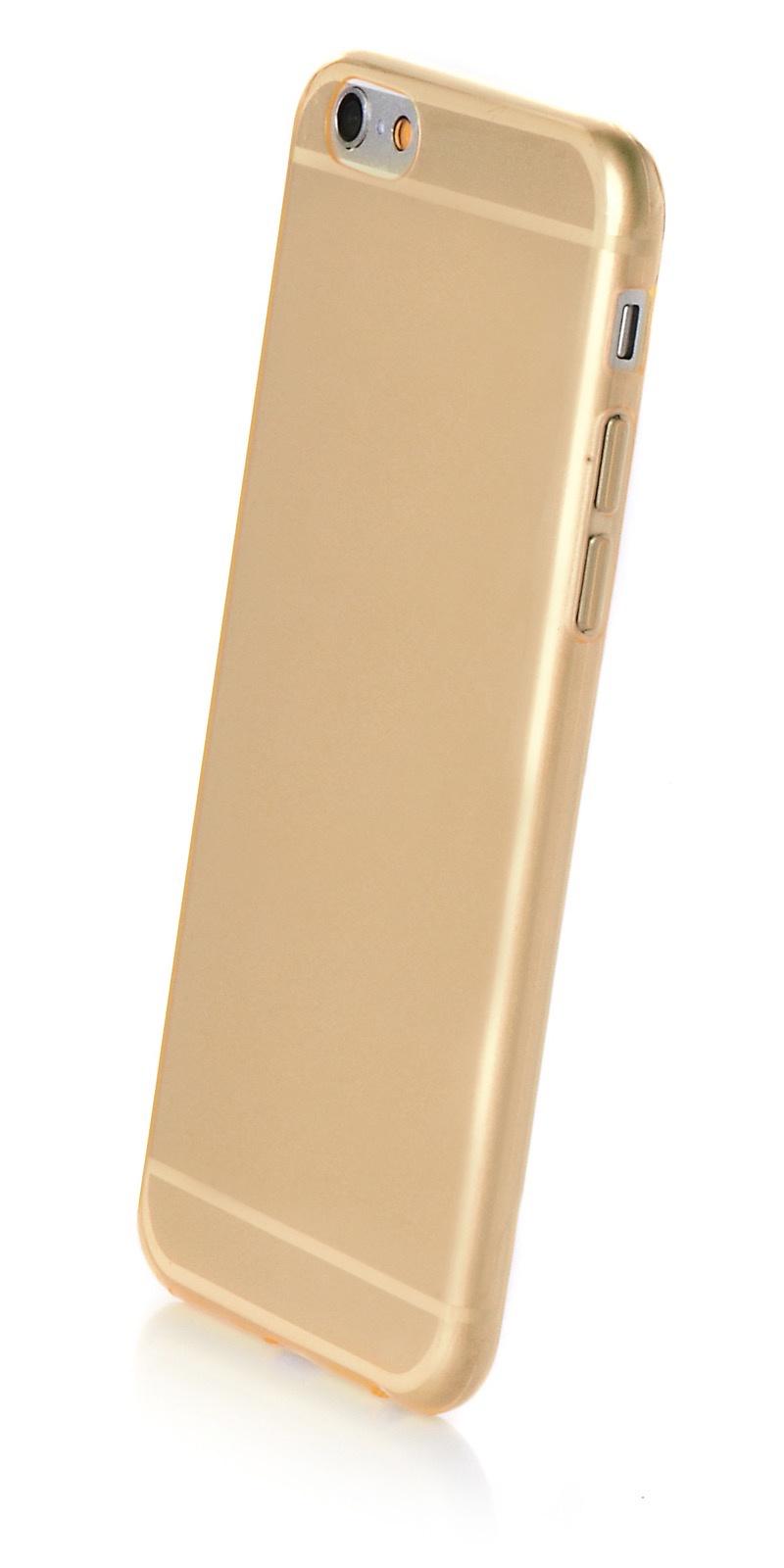 """Чехол для сотового телефона iNeez накладка силикон 0.3 mm глянцевый 620071 для Apple iPhone 6 Plus/6S Plus 5.5"""", золотой"""