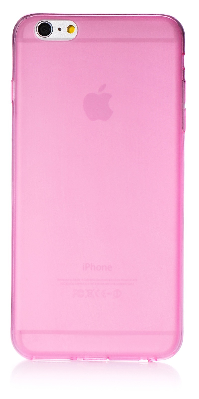 """Чехол для сотового телефона iNeez накладка силикон 0.3 mm матовый 620106 для Apple iPhone 6 Plus/6S Plus 5.5"""", розовый"""