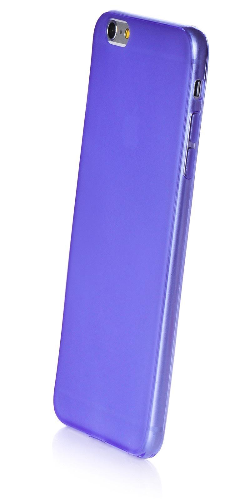 """Чехол для сотового телефона iNeez накладка силикон 0.3 mm матовый 620105 для Apple iPhone 6 Plus/6S Plus 5.5"""", фиолетовый"""