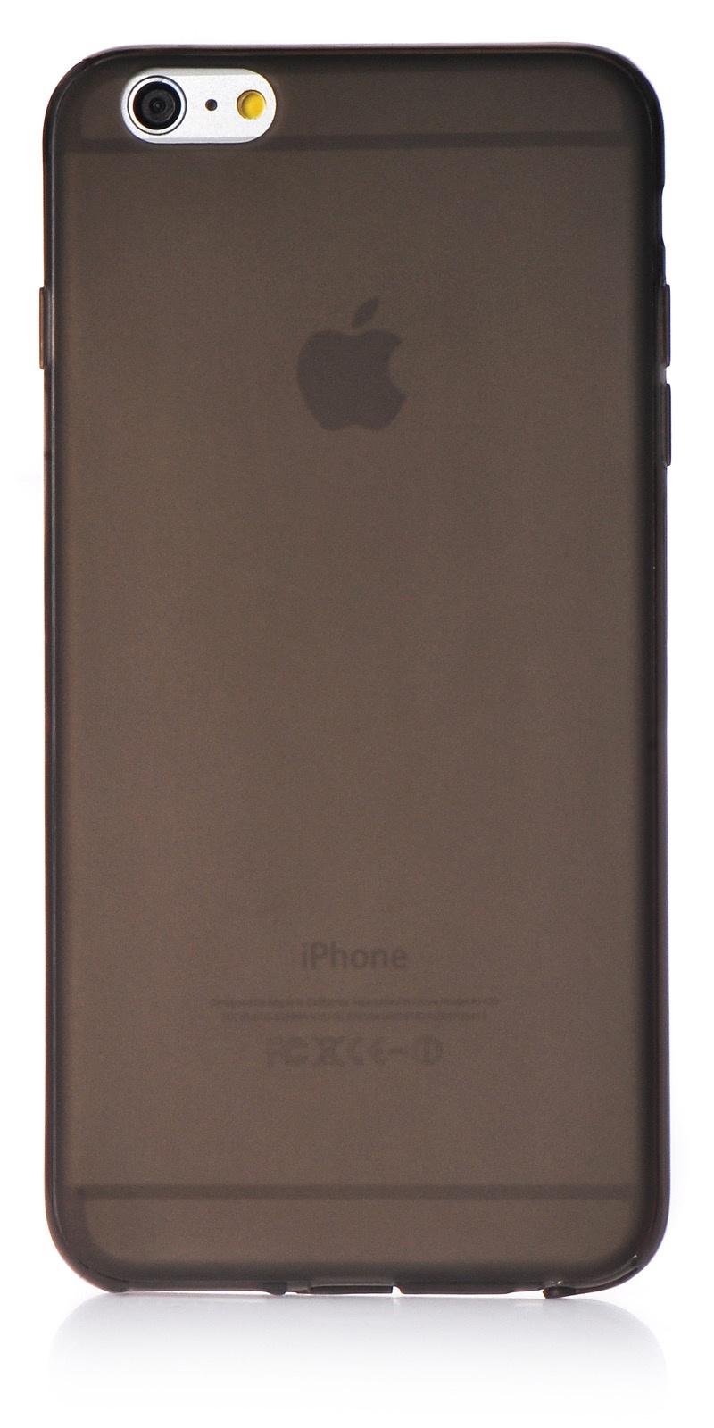 """Чехол для сотового телефона iNeez накладка силикон 0.3 mm матовый 620073 для Apple iPhone 6 Plus/6S Plus 5.5"""", черный"""