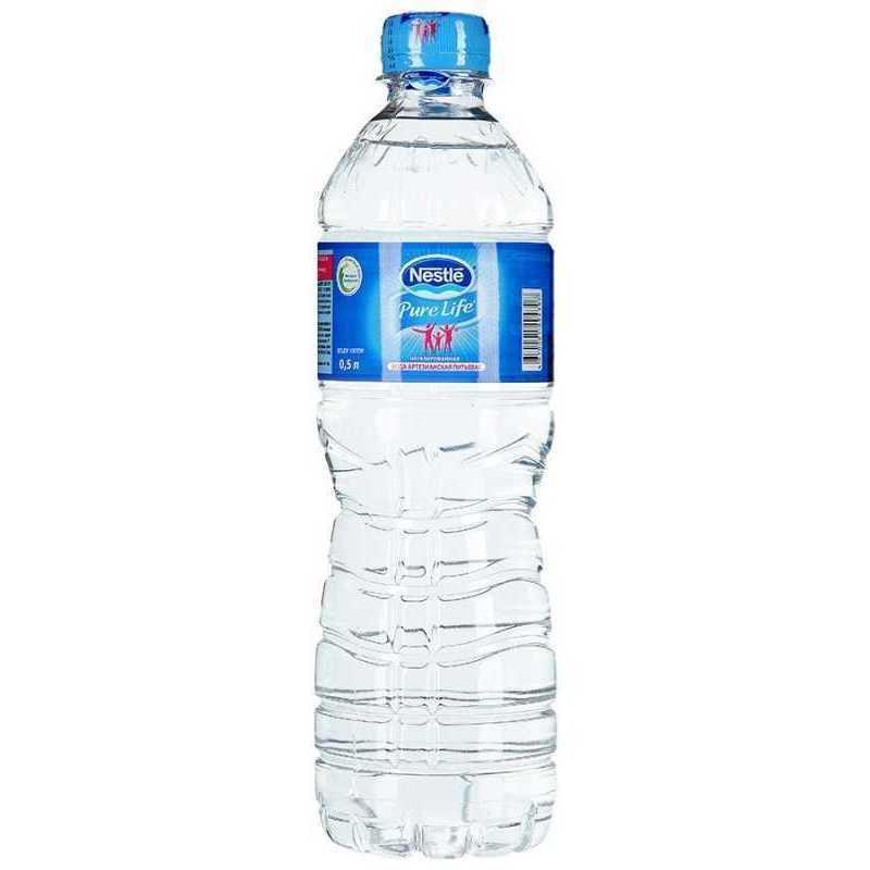Вода Nestle Pure Life питьевая артезианская негазированная, 0,5л (упаковка 12шт)