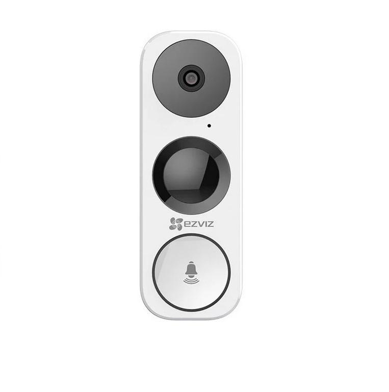 Вызывная панель Ezviz Wi-Fi звонок со встроенной камерой CS-DB1-A0-1B3WPFR, белый светодиодный беспроводной перезвон дверной звонок дверной звонок