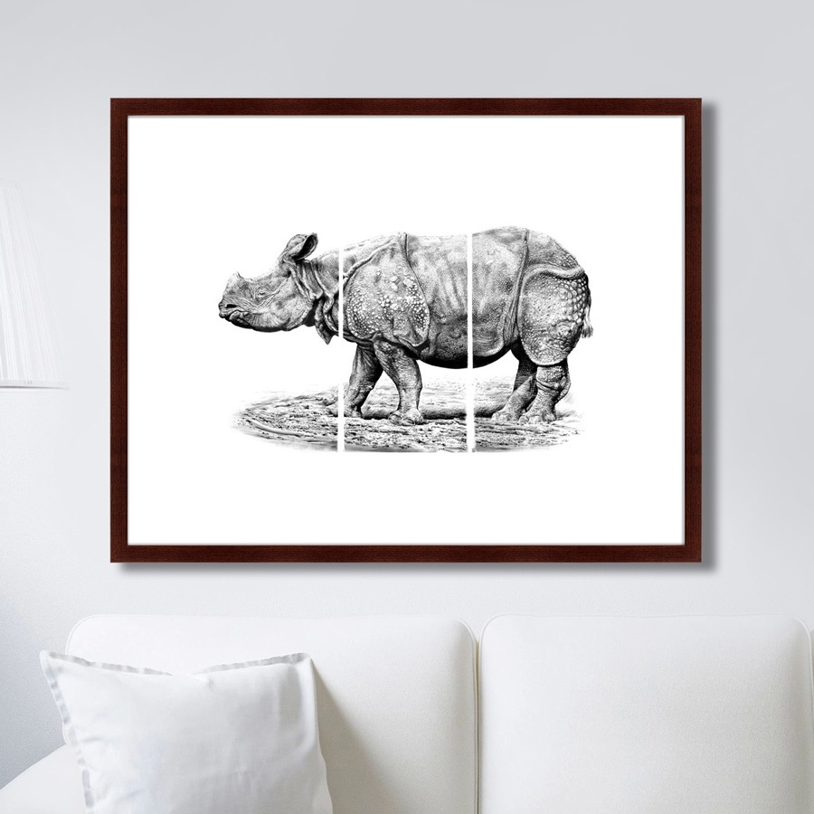 Картина Картины В Квартиру Носорог, Бумага цена