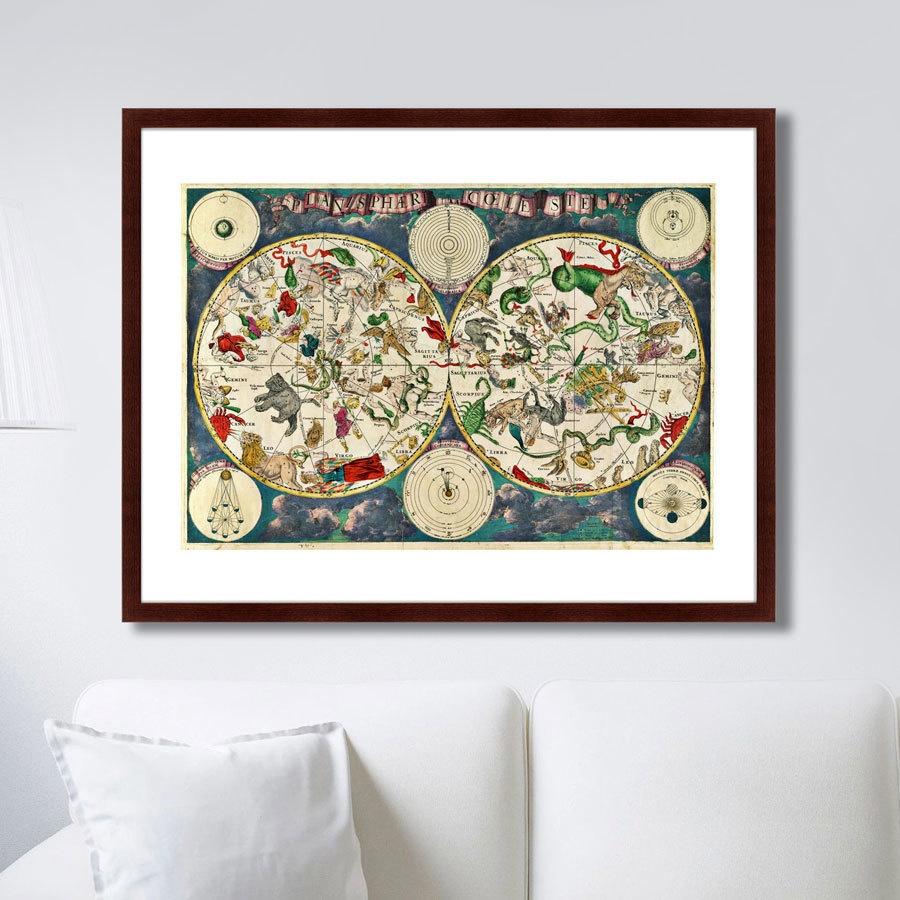 Картина Картины В Квартиру Карта созвездий, 17 век, Бумага