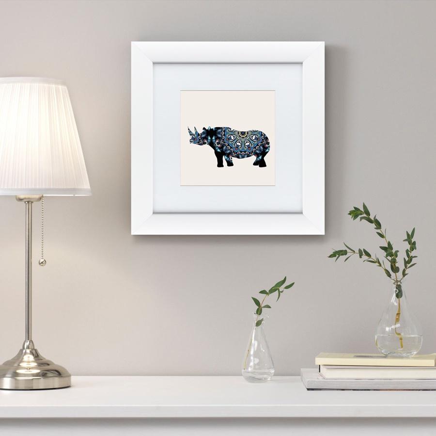 Картина Картины В Квартиру Восточная яркость, носорог, 2016г, Бумага цена