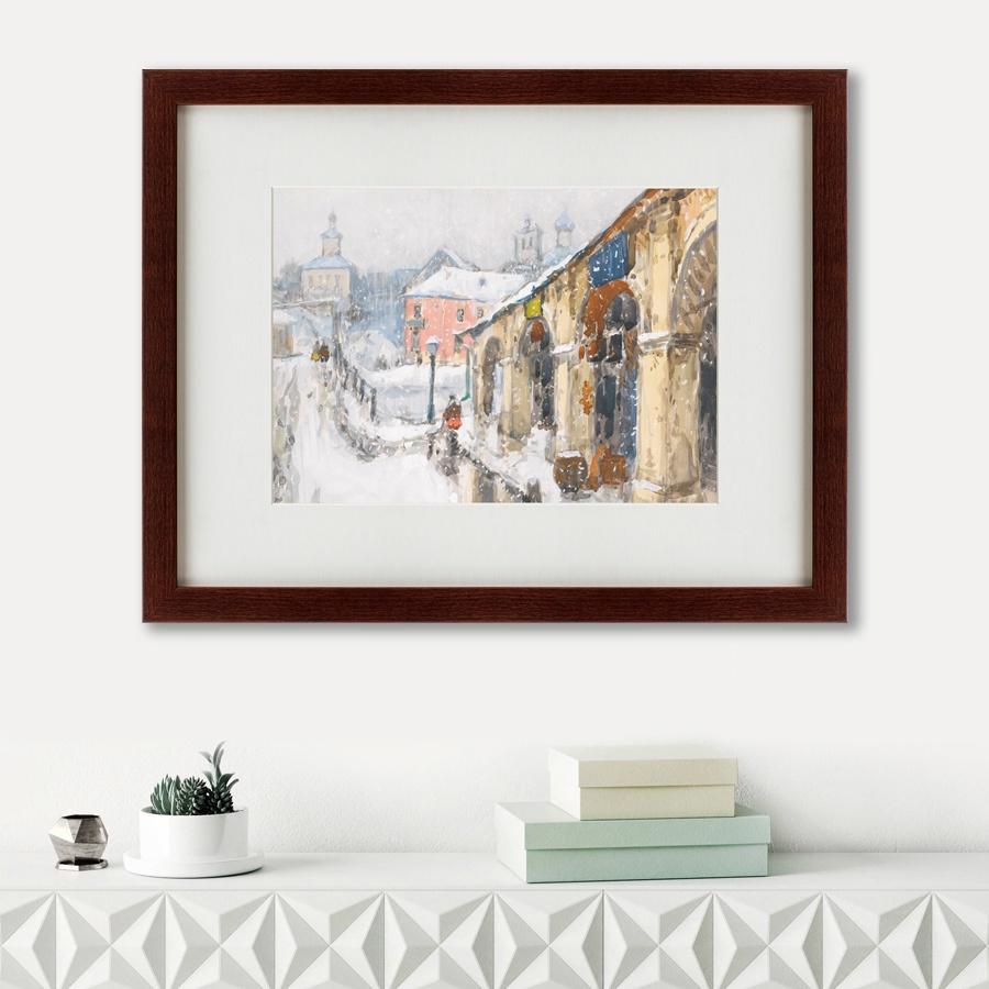 Картина Картины В Квартиру Заснеженный город, 1923, Бумага картины постеры гобелены панно картины в квартиру картина бесконечность линий 35х35 см
