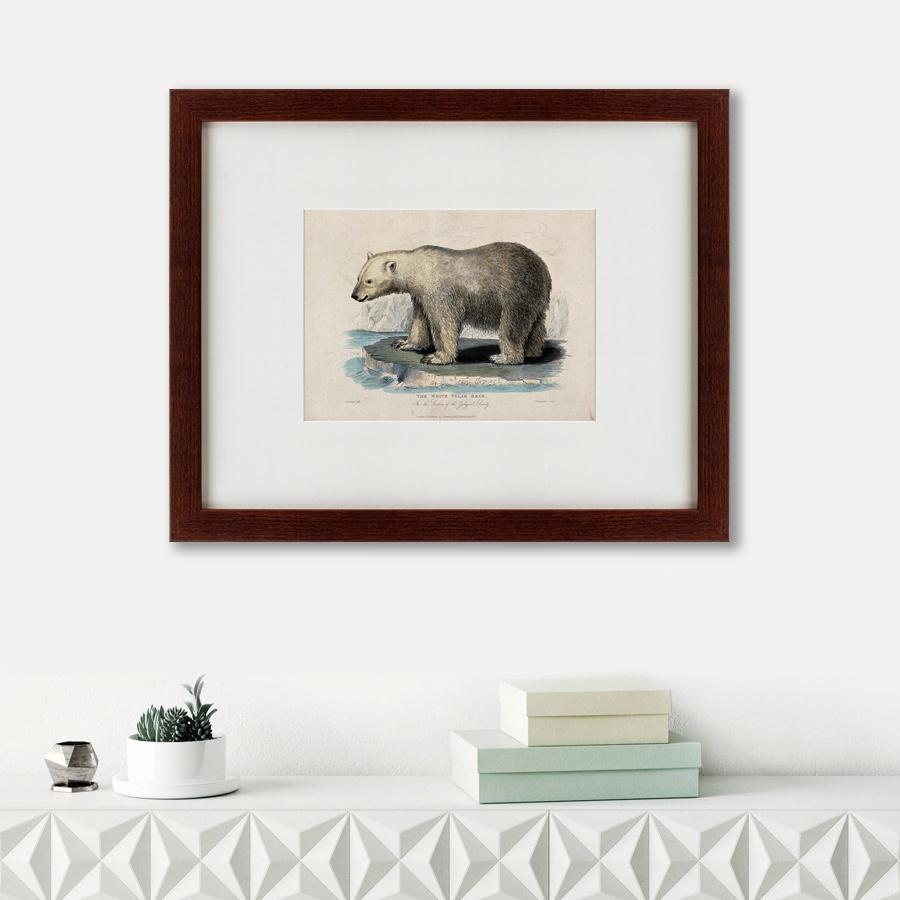 Картина Картины В Квартиру White polar bear on an ice, 1830, Бумага ice bear