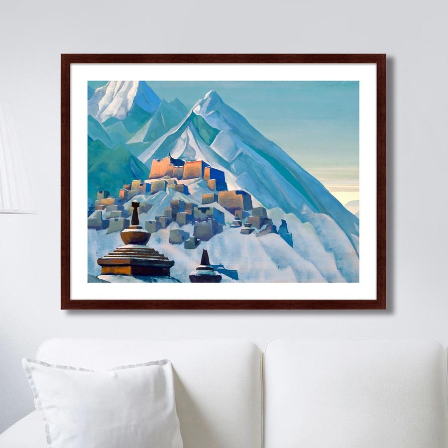 Картина Картины В Квартиру Тибет. Гималаи. 1933г., Бумага картины постеры гобелены панно картины в квартиру картина бесконечность линий 35х35 см