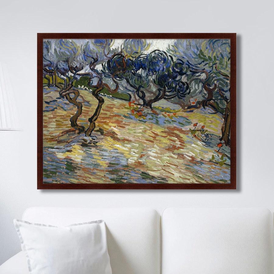 Картина Картины В Квартиру Olive Trees, 1889г., Бумага картины постеры гобелены панно картины в квартиру картина бесконечность линий 35х35 см