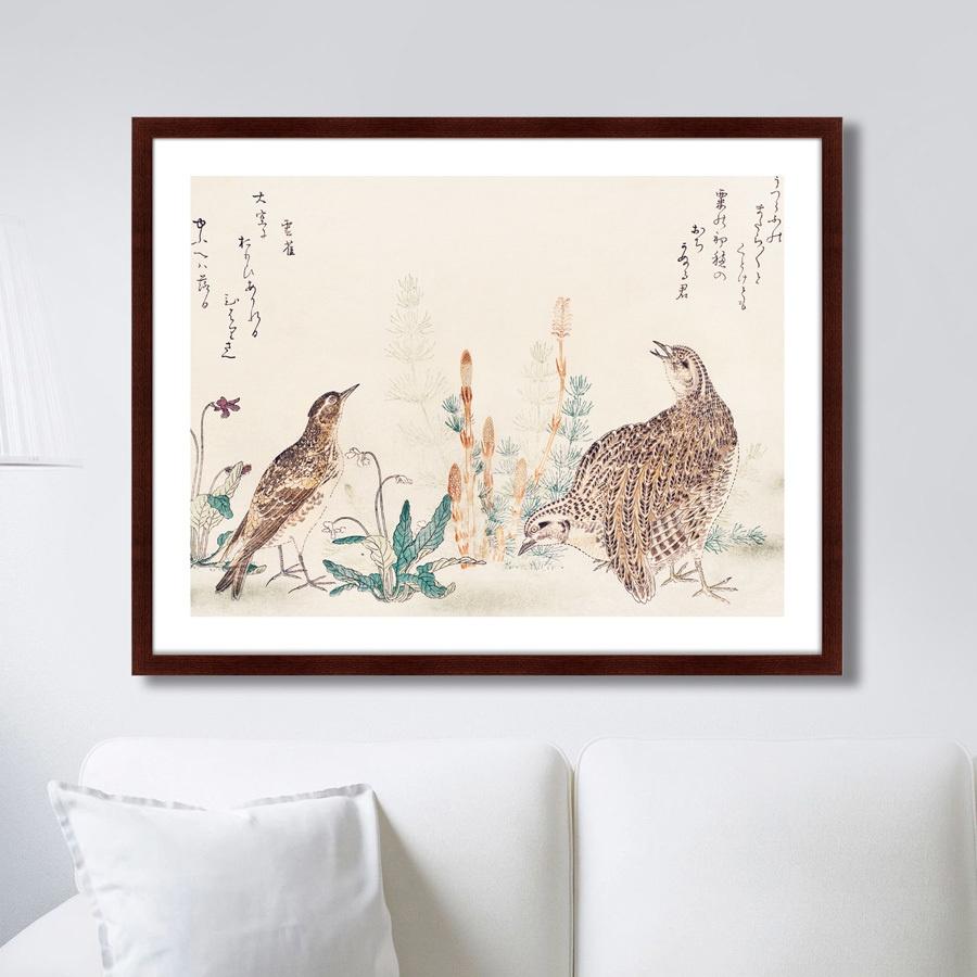 Картина Картины В Квартиру Uzura Hibari, 1791г., Бумага цена