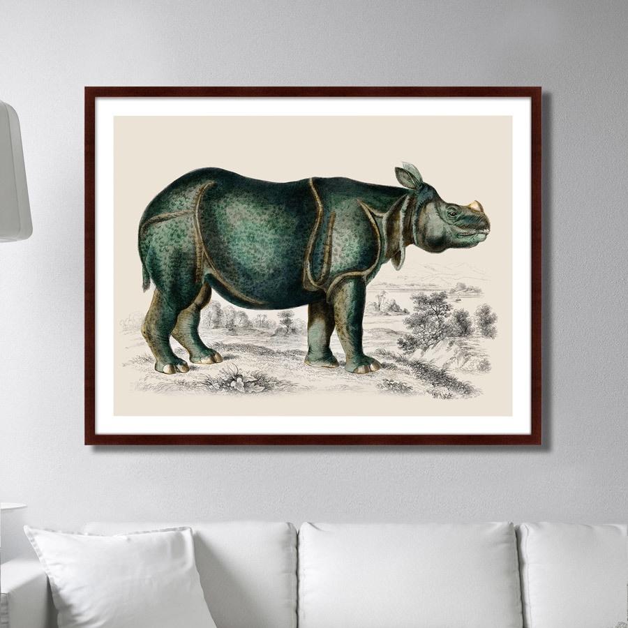 Картина Картины В Квартиру Rhinoceros, 1774г., Бумага картины постеры гобелены панно картины в квартиру картина бесконечность линий 35х35 см