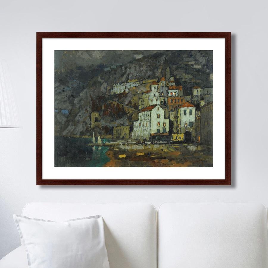 Картина Картины В Квартиру Вид Амальфи, 1925г., Бумага картины постеры гобелены панно картины в квартиру картина бесконечность линий 35х35 см