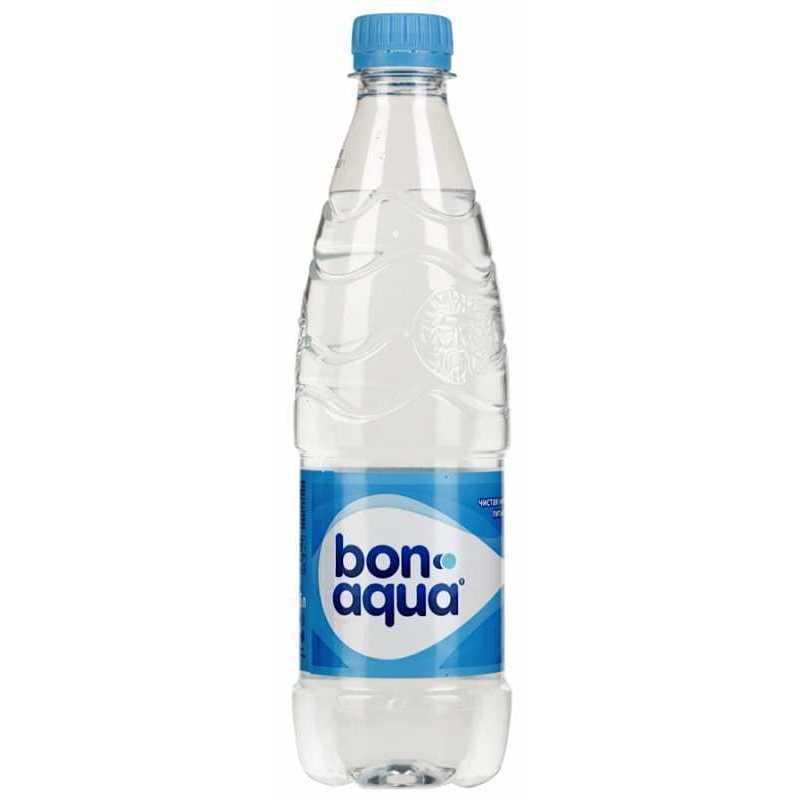 Вода Bonaqua чистая питьевая негазированная, 0,5л, упаковка 24шт