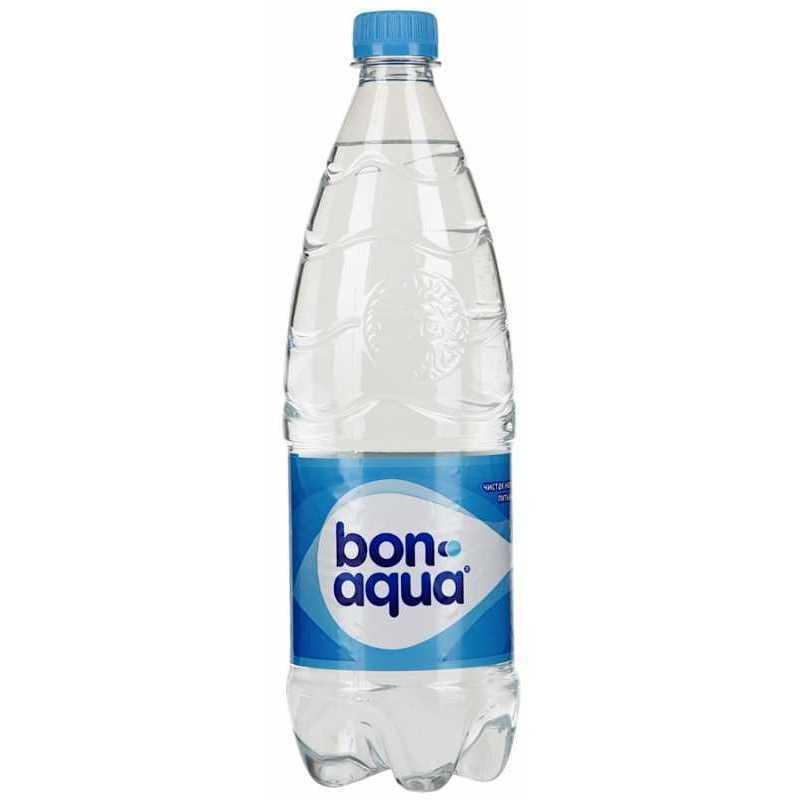 Вода Bonaqua чистая питьевая негазированная, 1л, упаковка 12шт