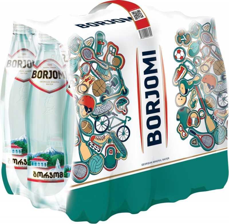 Вода Borjomi минеральная природная газированная пэт, 0,5л упаковка 12шт