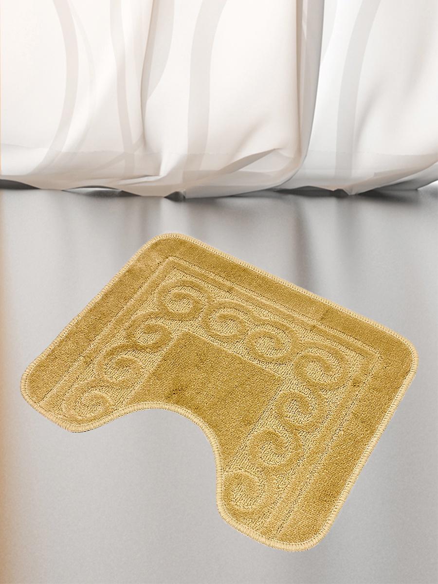 Коврик для туалета mr. Penguin BF008/0, бежевый коврик для туалета mr pinguin узоры синий белый