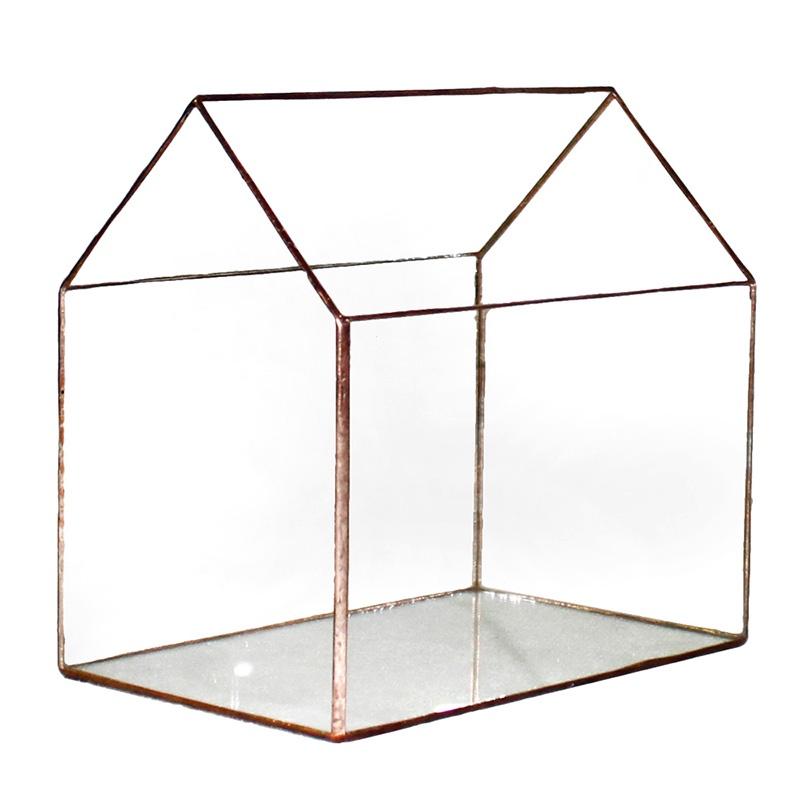 Кашпо FLORS Флорариум Дом 9, прозрачный удобрение для суккулентов кактусов алое толстянковых и мол