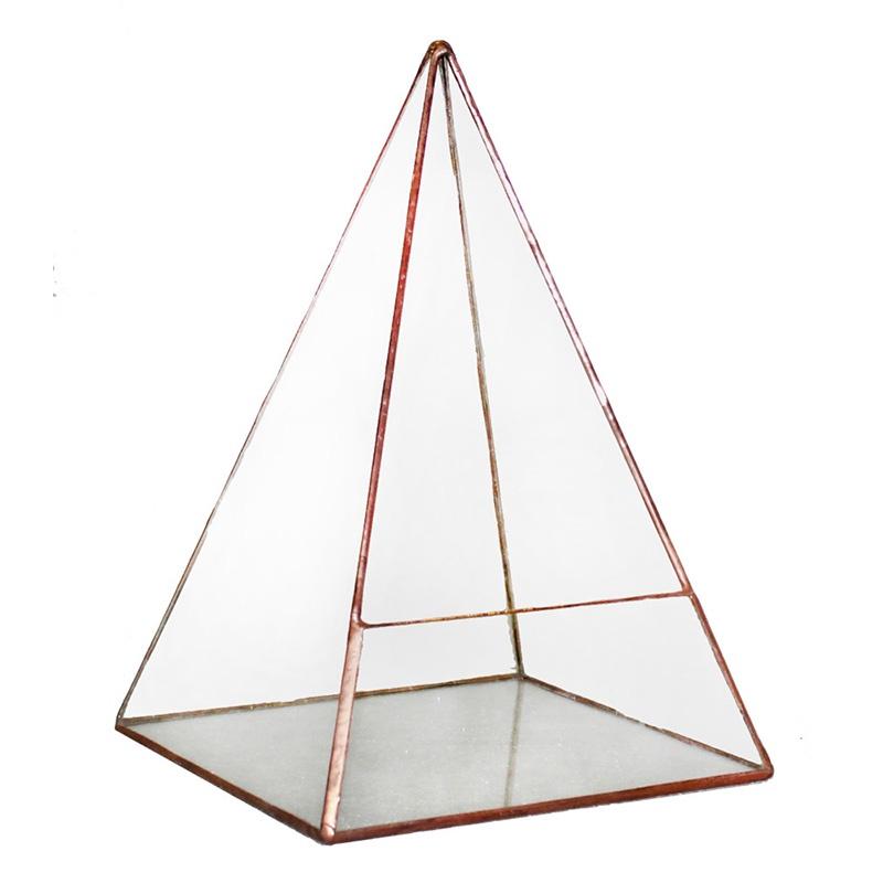 Кашпо FLORS Флорариум Пирамида 5, прозрачный удобрение для суккулентов кактусов алое толстянковых и мол