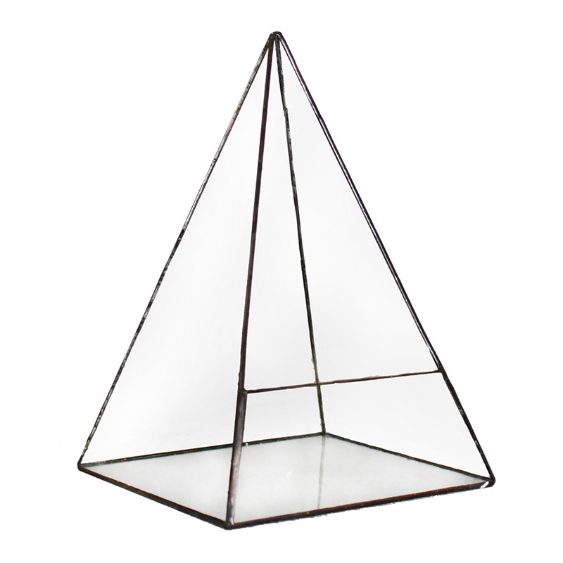 Кашпо FLORS Флорариум Пирамида 4, прозрачный удобрение для суккулентов кактусов алое толстянковых и мол