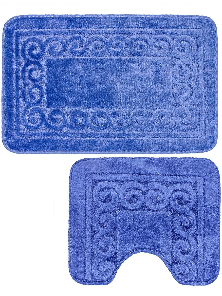 Набор ковриков для ванной mr. Penguin BF005/2, синий