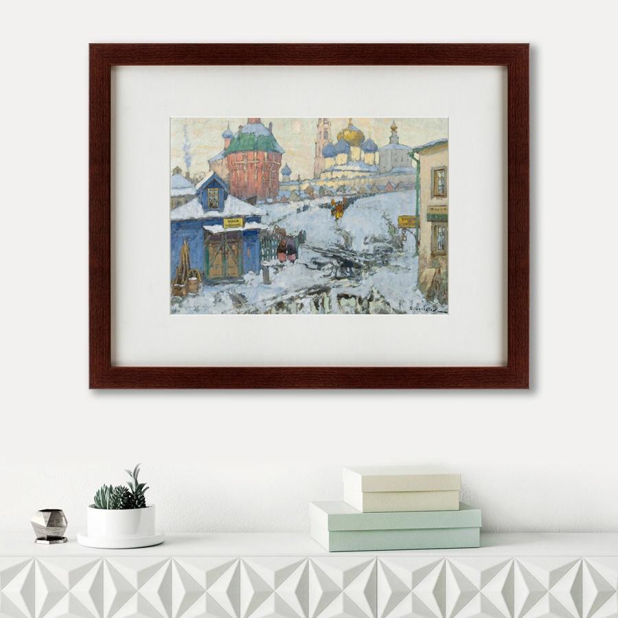 Картина Картины В Квартиру Вид Троице-Сергиевой Лавры, 1923, Бумага цены онлайн