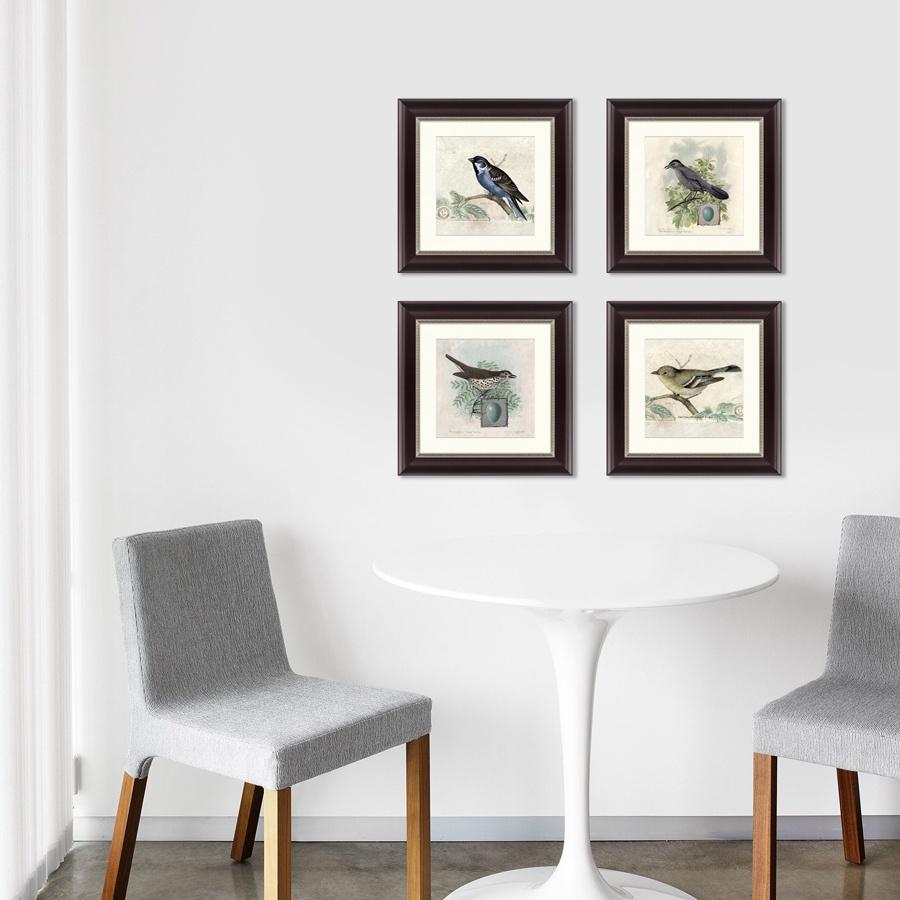 цены Картина Картины В Квартиру Коллекция Птицы, винтажная почтовая открытка (из 4-х картин), Бумага
