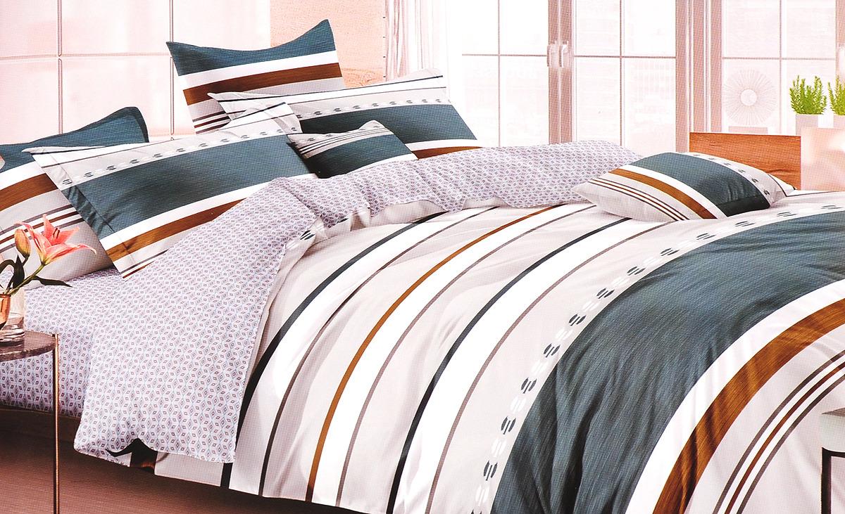 Комплект постельного белья Василиса Онегин, 193637, разноцветный, наволочки 70x70 кпб азалия р сем 4 нав