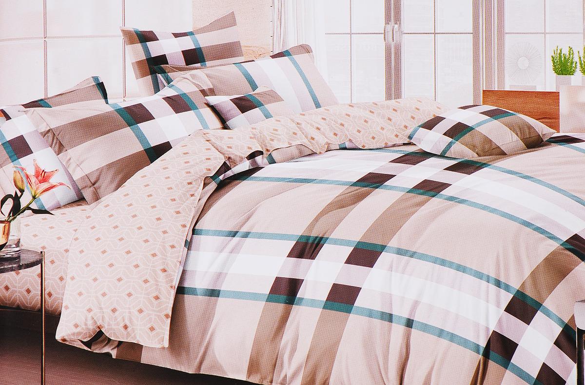 Комплект постельного белья Василиса Онегин, 193634, разноцветный, наволочки 70x70 кпб азалия р сем 4 нав