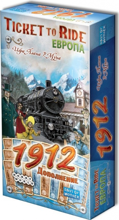 Настольная игра Hobby World Ticket to Ride. Европа: 1912, арт. 1626 days of wonder ticket to ride europe board game