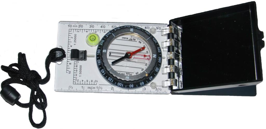 Компас IN-SPORTS зеркальный. Профессиональный компас geonaute планшетный компас для спортивного ориентирования или походов explorer 500