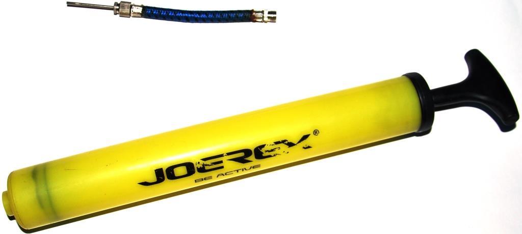 Насос для мяча JOEREX Насос для мячей JP023, желтый мяч футбольный joerex 5 jis010