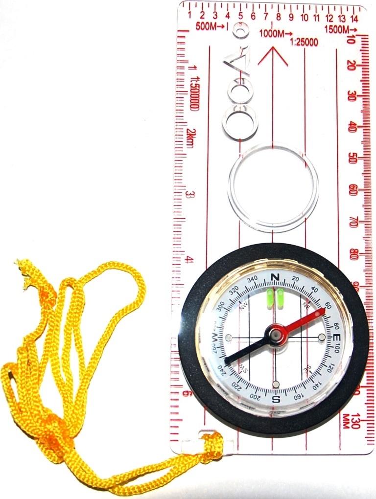 Компас IN-SPORTS жидкостный планшетный. С линейкой, увеличительным стеклом, нейлоновым шнурком. компас geonaute планшетный компас для спортивного ориентирования или походов explorer 500
