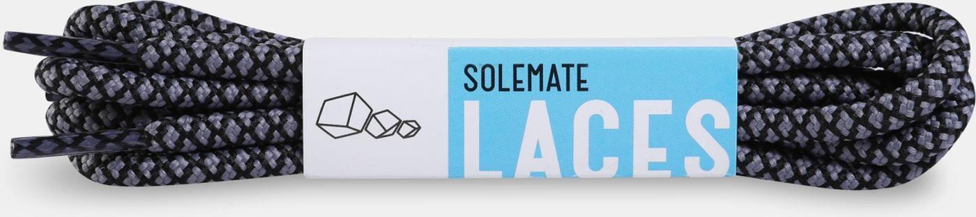 Шнурки Solemate Laces, GRBL-SML-2018, 120 см, серый, черный шнурки solemate solemate so045aubesx5