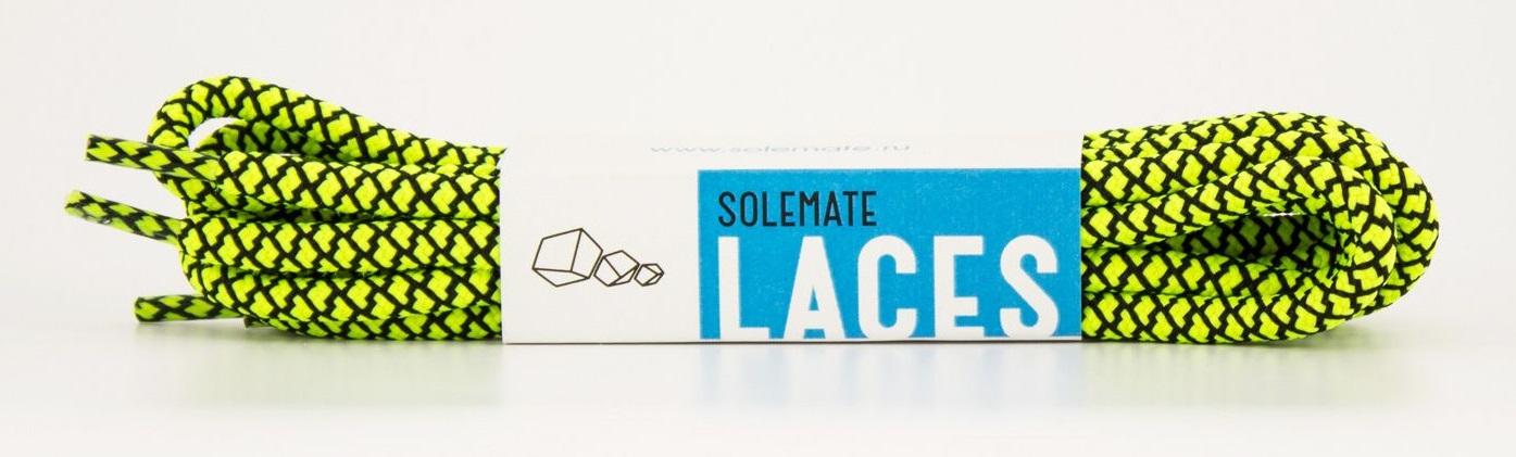 Шнурки Solemate Laces, YEB-SML-2016, 120 см, черный, желтый шнурки solemate solemate so045aubesx5