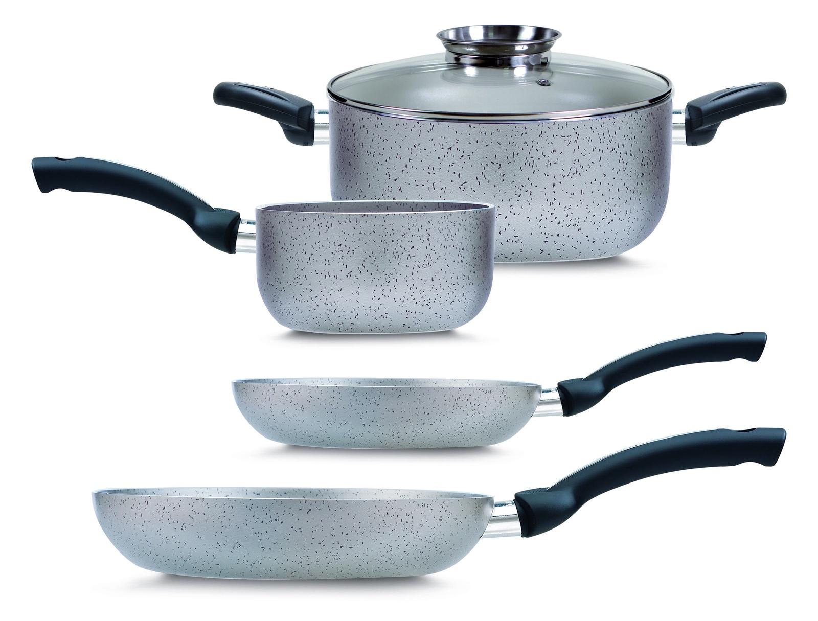 Набор посуды для приготовления PENSOFAL PEN9926 INDUCTA BIO STONE Set Набор 5 пр. (2 сков., 1 ковш, 1 кастрюля, 1 крышка), серый цены