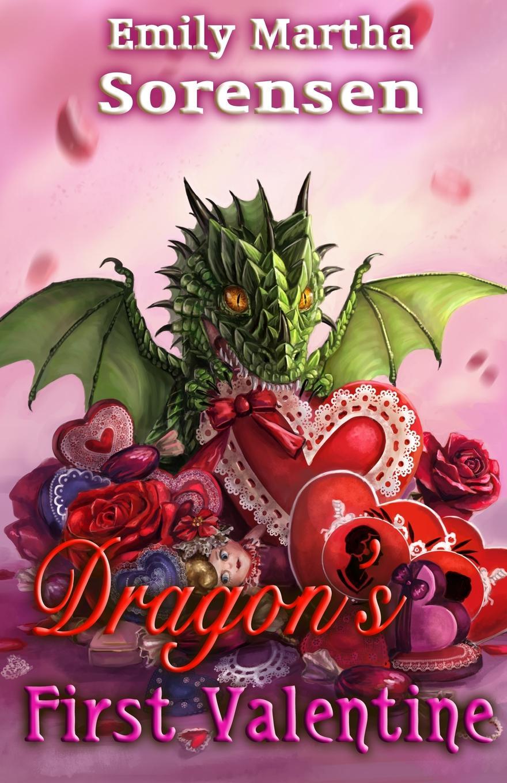 Emily Martha Sorensen Dragon.s First Valentine valentine s day heart printed wall art decorative tapestry