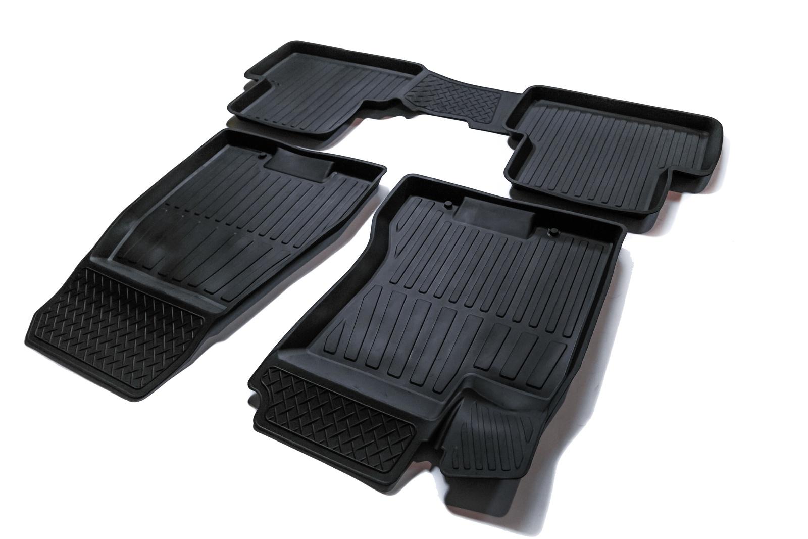 Коврики в салон автомобиля SRTK 3D PREMIUM, черный
