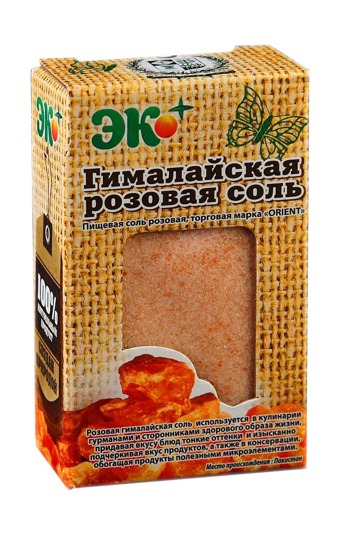 Соль ЭКО ПЛЮС пищевая гималайская розовая (помол мелкий 0,5-1мм), 360 соль гималайская черная пищевая 200гр