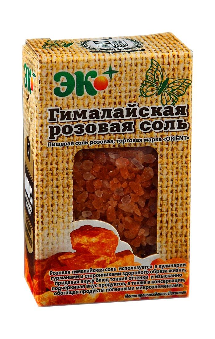 Соль ЭКО ПЛЮС пищевая гималайская розовая (помол крупный 2-5 мм), 360 соль гималайская черная пищевая 200гр