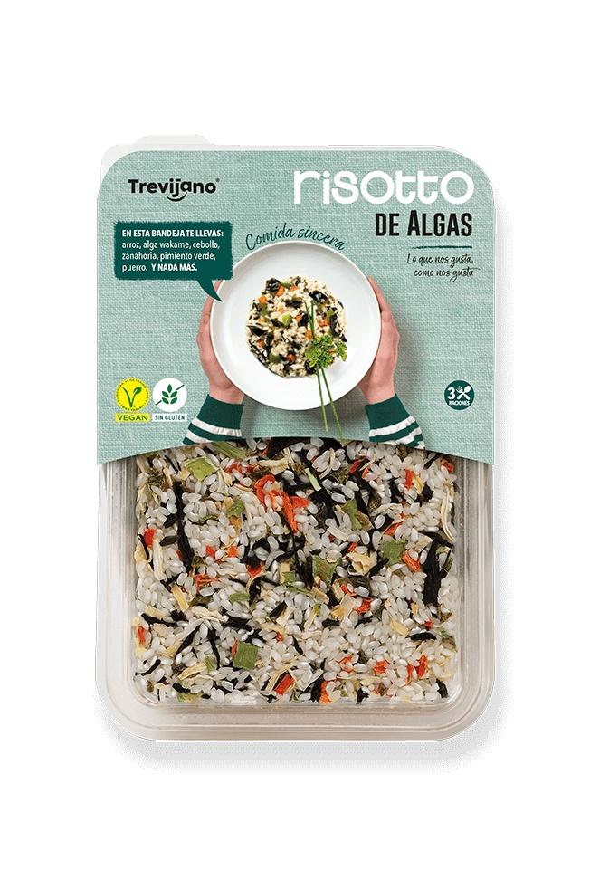 Рис Trevijano Ризотто с овощами и водорослями, 280 г