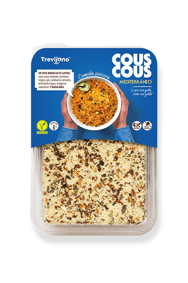 Кускус Trevijano Средиземноморский с овощами и кунжутом, 300 г