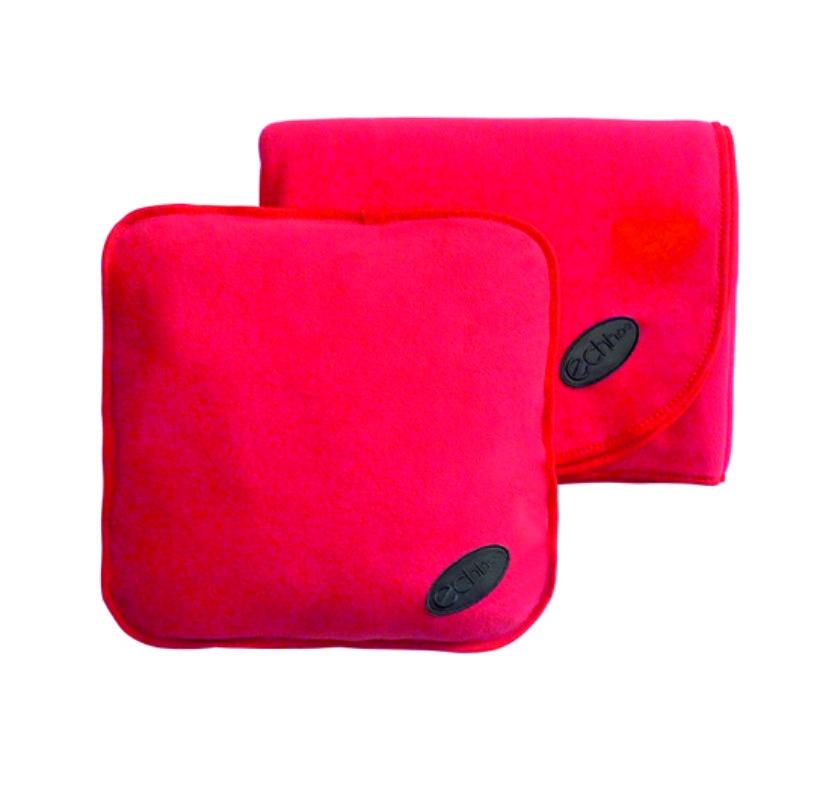 Подарочный набор автолюбителю ECHHOO Набор автомобильный детский (подушка и плед)-2, красный