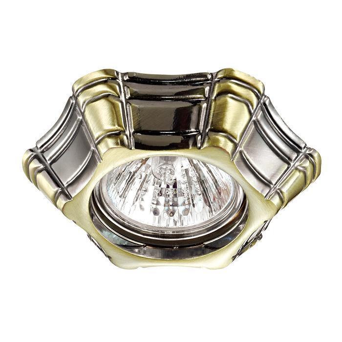 Встраиваемый светильник Novotech 370252, бронза цена