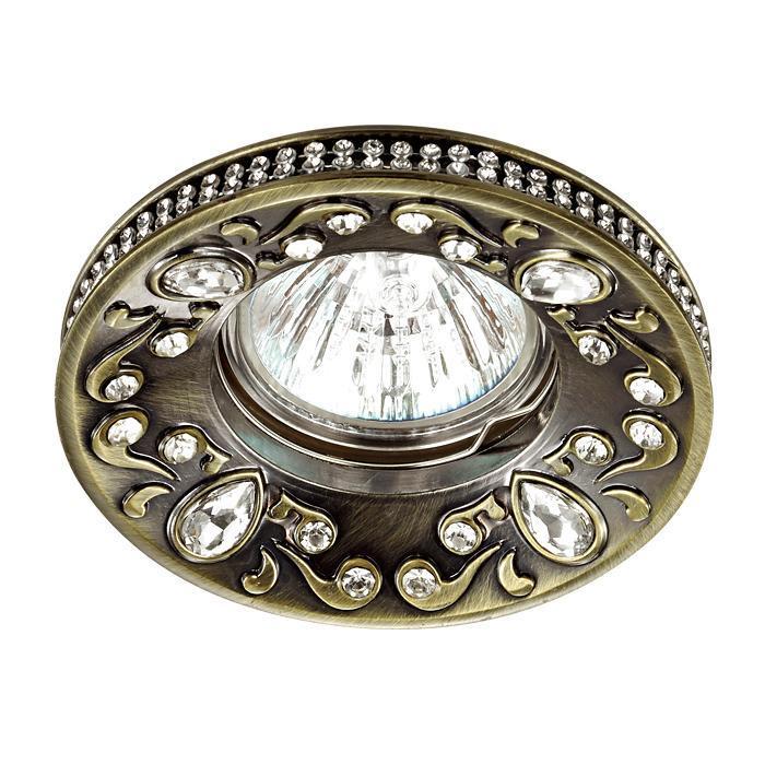 Встраиваемый светильник Novotech 370235, бронза novotech 369908