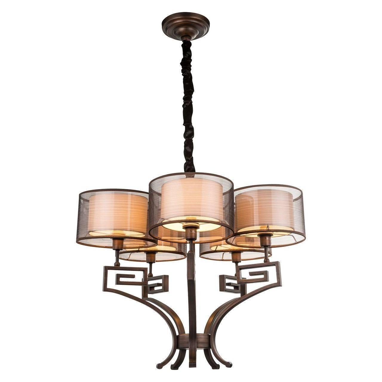 Подвесной светильник Globo 69009-5H, коричневый globo подвесная люстра globo 69009 3h