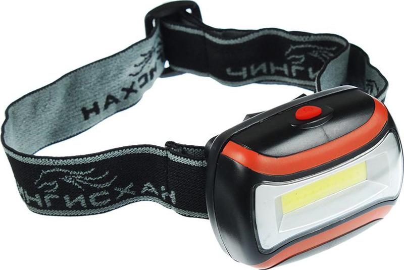 Налобный фонарь Чингисхан, 3 Вт COB LED, 198-055, черный