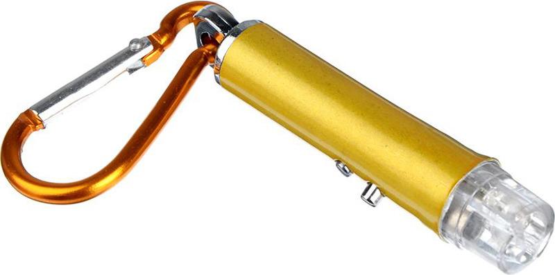 Фонарь-брелок Чингисхан, с карабином, 1 LED, лазер, 198-072