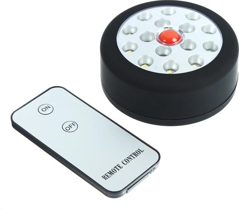 Кемпинговый фонарь Чингисхан, с пультом, 15 LED, 3 Вт, 222-001, черный